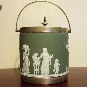Antique Wedgwood Jasperware Biscuit Jar